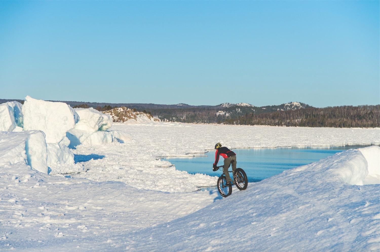 fat tire snow biking northern michigan