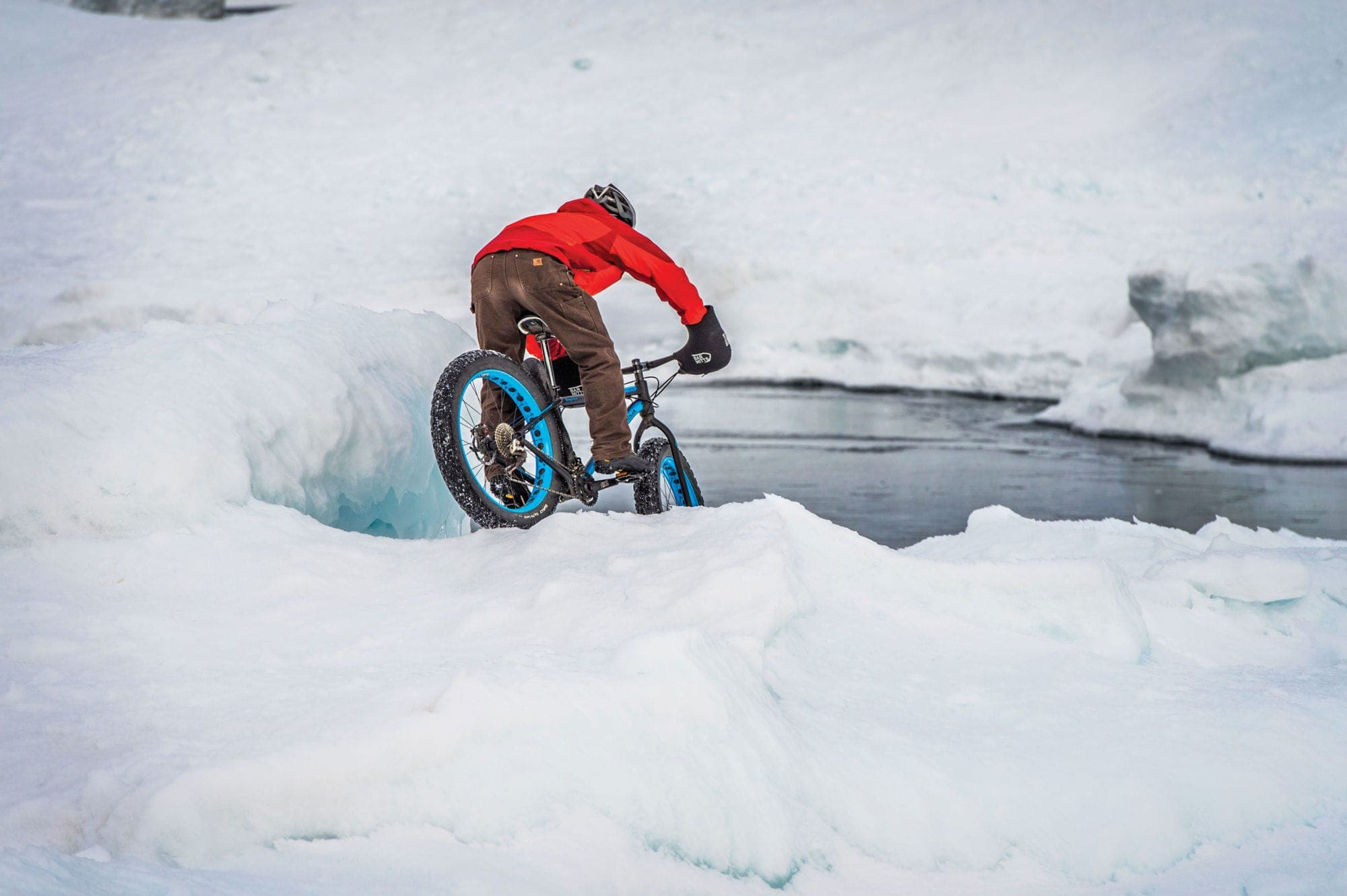 winter fat tire biking