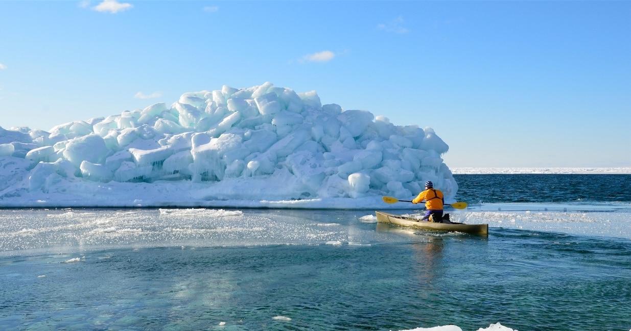 michigan lake exploring along ice molly mynorth baker