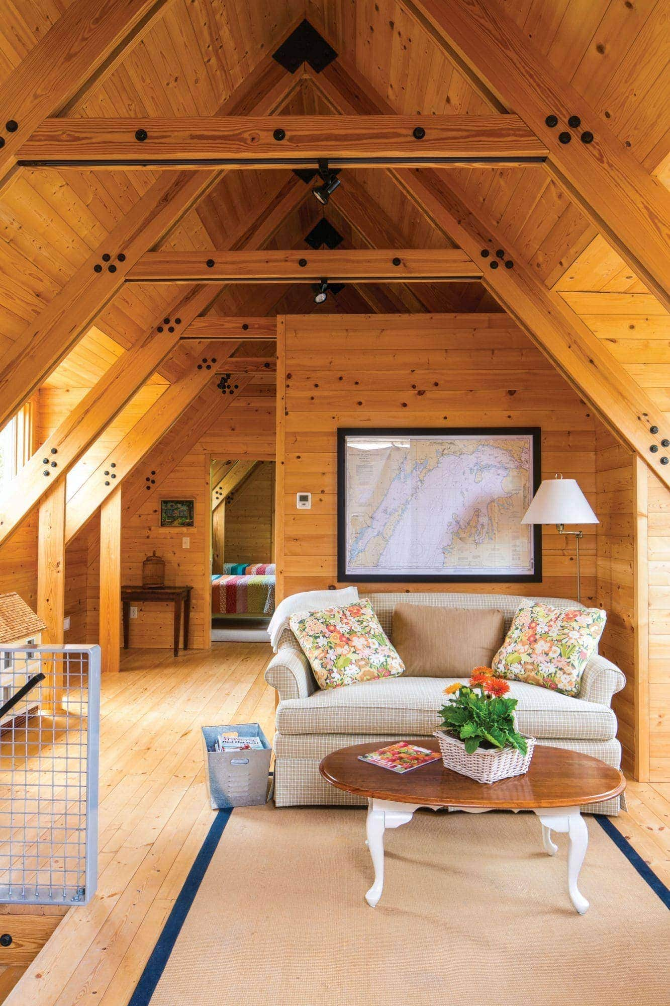 A Not-So-Large Cottage with Industrial Style on Little Traverse Lake ...