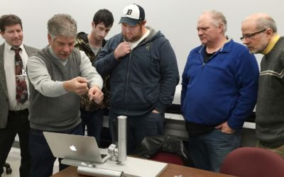 Baker College Students in Cadillac Helping Inventor