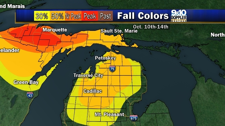 2015 Fall Color Map Of Northern Michigan  MyNorth