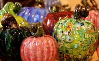 Glass Pumpkins on a Tunnel of Trees Fall Color Tour