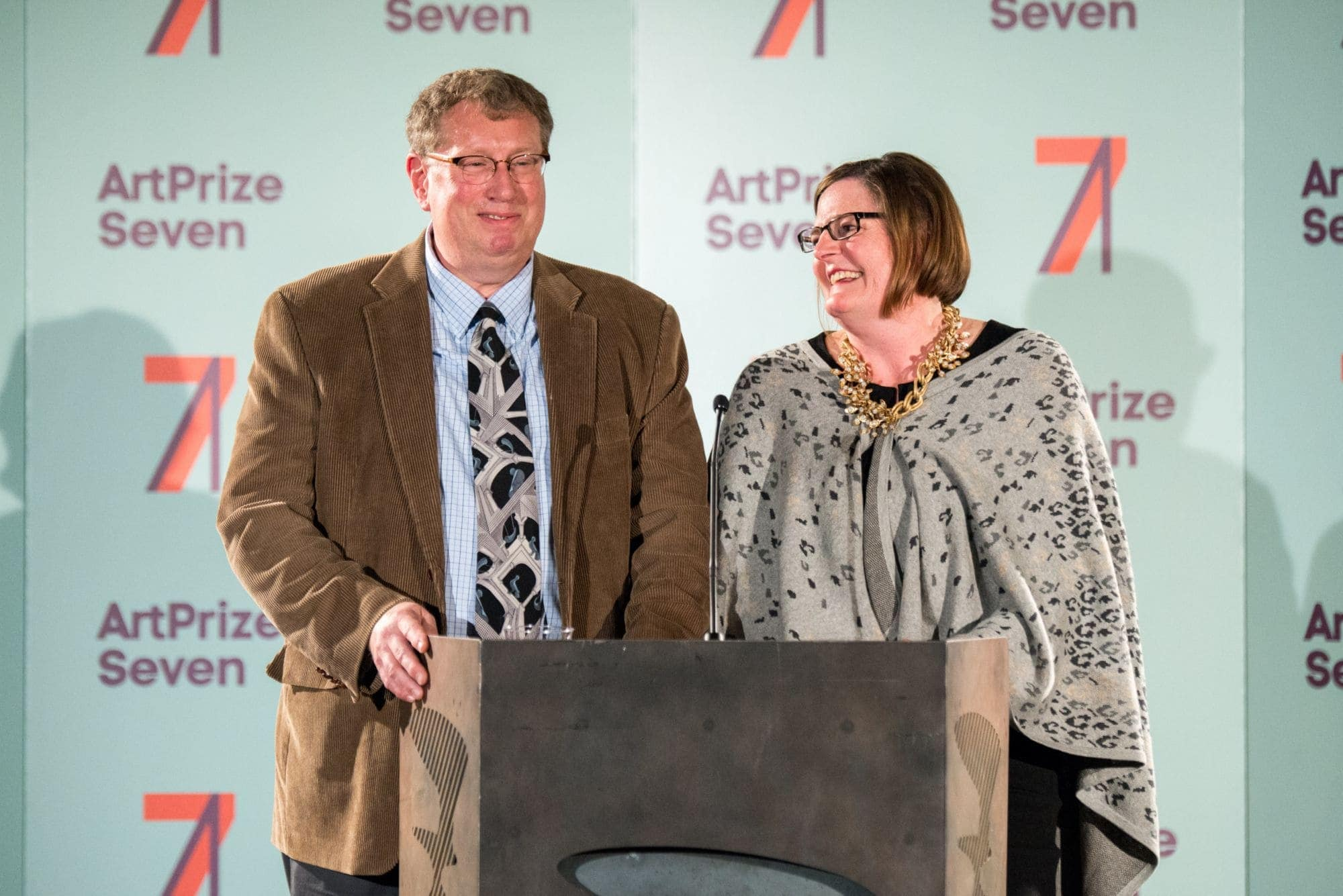 Steve and Ann Loveless at ArtPrize Seven, Photo taken by Bryan Esler for stellafly