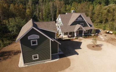 Video: Aerial View of Home by Sidock Architects in Gaylord