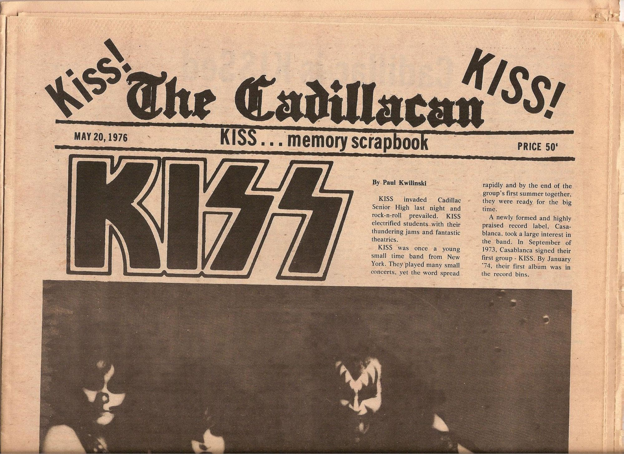 Remember When Kiss Visited Cadillac High School In 1975 Mynorth Com