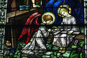 Holy Rosary Stained Glass in Leelanau