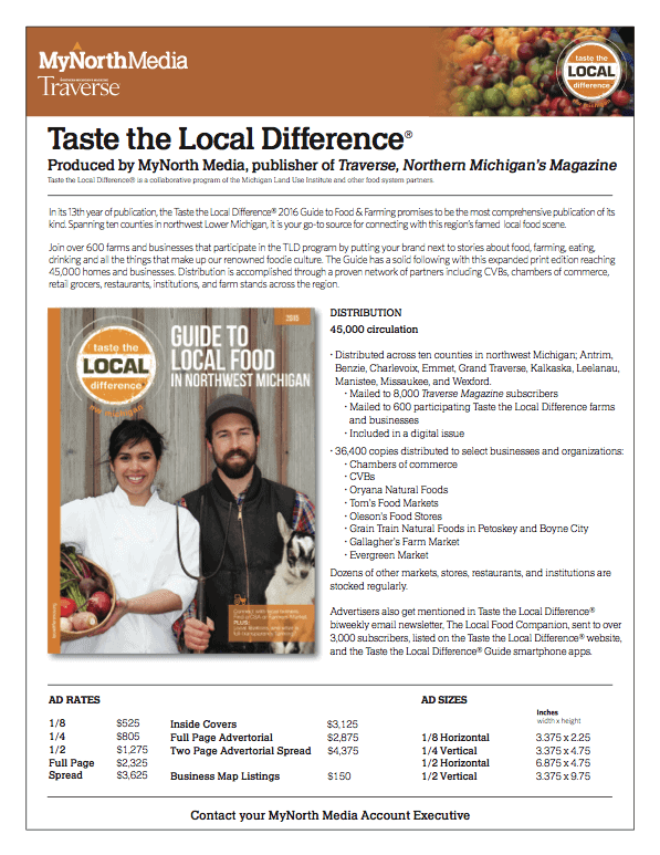 Taste the Local Difference Sales Sheet