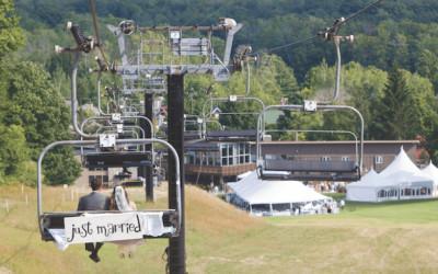Crystal Mountain Wedding Atop the Ski Slopes