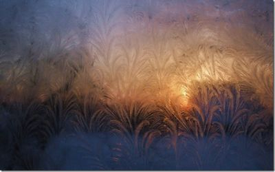 Frosty View of the Sunrise