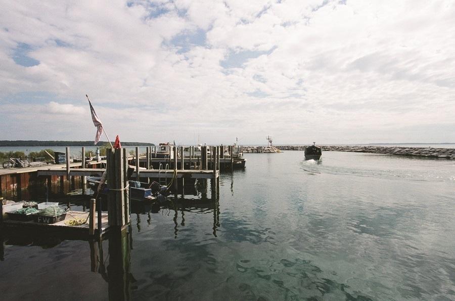 fishing on grand traverse bay