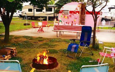 Glamping at Lake Leelanau RV Park with Sweetie-licious