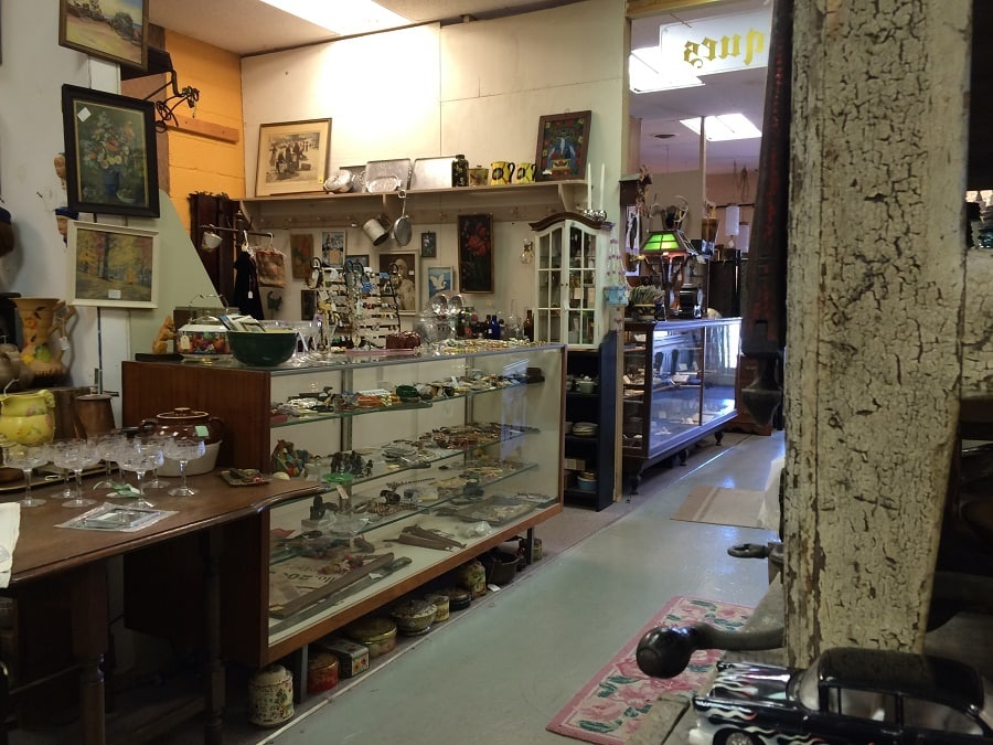 Bay West includes two large rooms full of antique items.