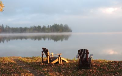 Peaceful Fall Morning on Manistee Lake