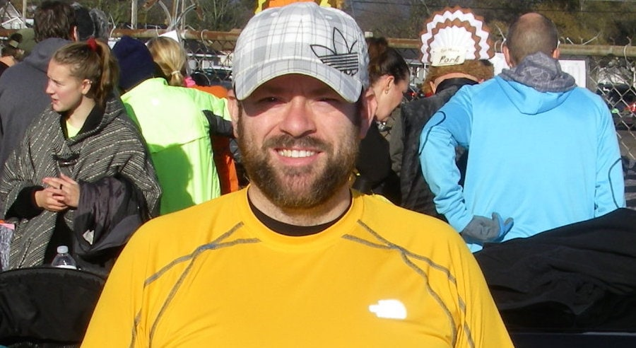 Jonathan Basler lost more than 100 pounds; shown at the Traverse City Turkey Trot.