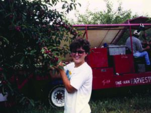 Michelle McManus, and her brother, Jim, (below) spent summers and weekends helping their parents at the farm.