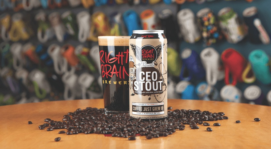 michigan dark beers, right brain, stout, beer, traverse city brewery