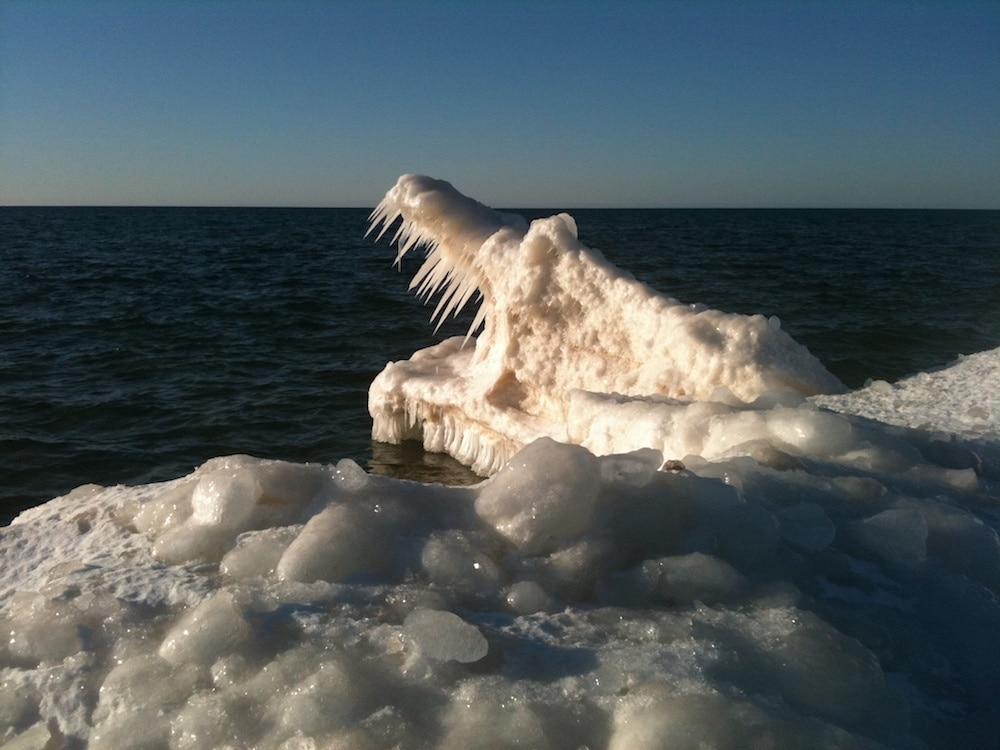 See the Alligator?! Awesome Ice Formation at Otter Creek ...