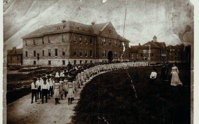 Native American Children Boarding School in the Early 1900s