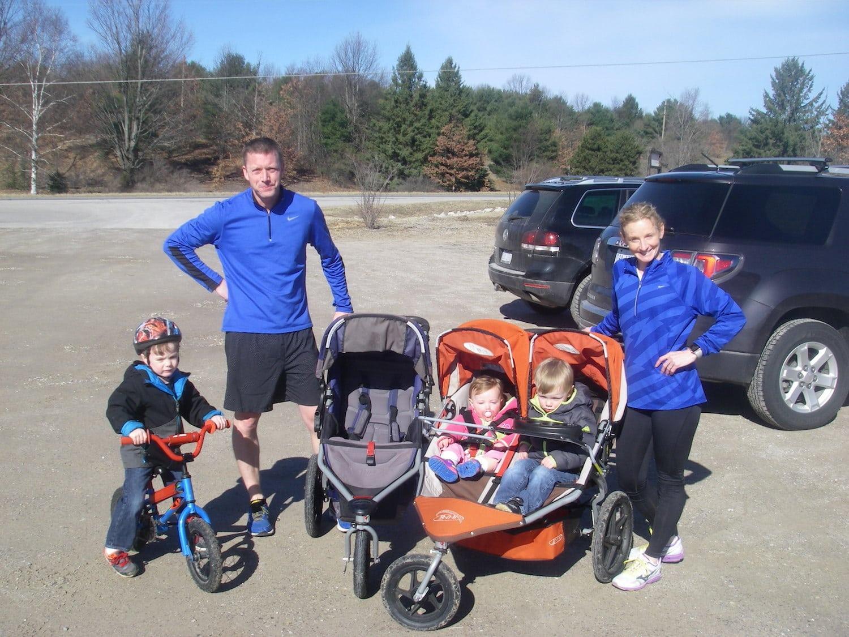 The O'Hagan family ready to run.