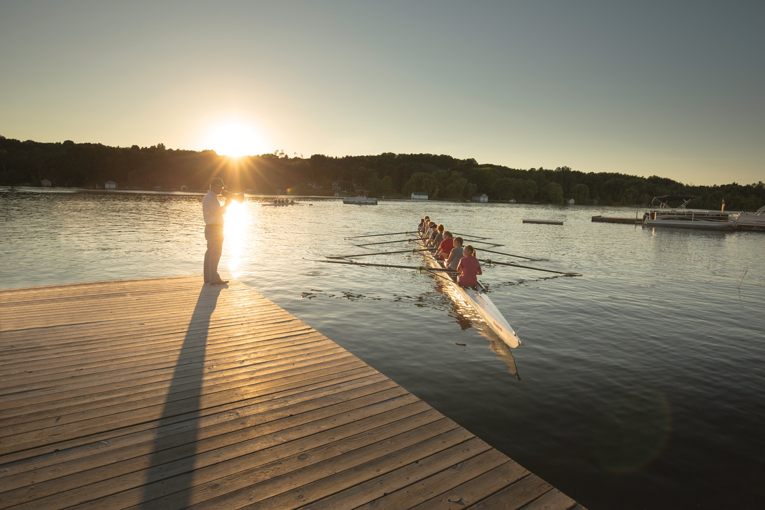 Rowing on the rise competitive rowing takes off on lake for Lake leelanau fishing