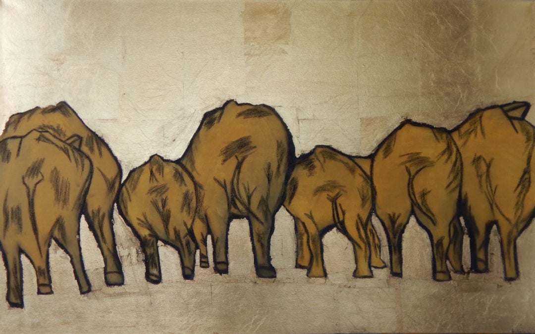 Elephants, ArtPrize Nine entry by Audrey Summers Smith