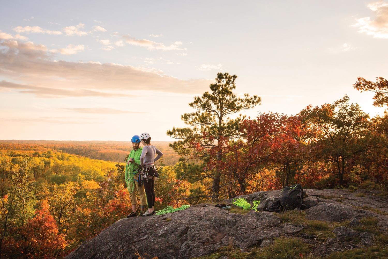 Autumn On Silver Mountain Go Rock Climbing In The Upper