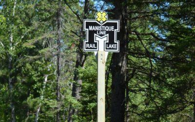 Michigan's Haywire Grade Rail Trail Gets New Mile Markers