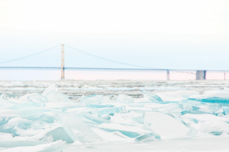 Mackinac Bridge winter