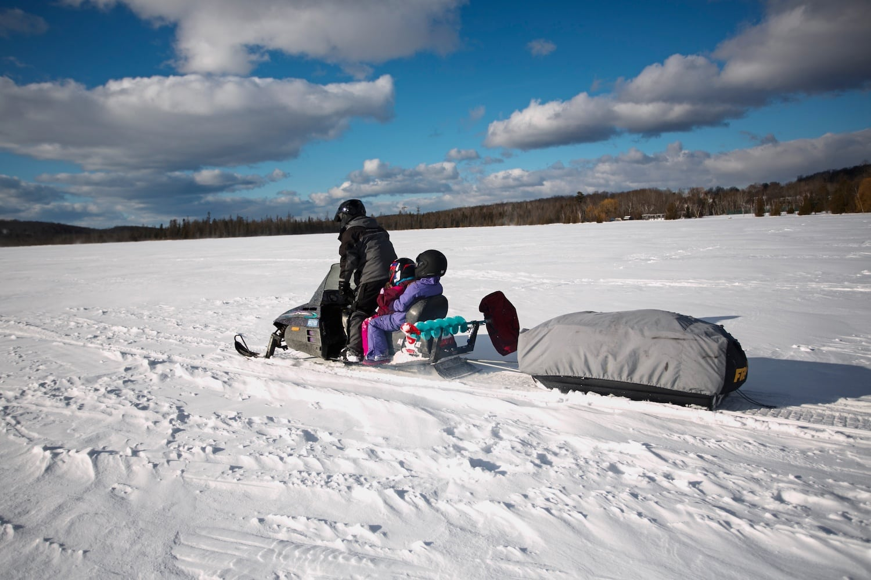 Ice fishing with kids in northern michigan for Ice fishing michigan