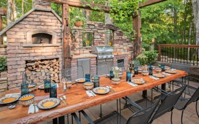 Gorgeous Backyard Makeover in Northern Michigan Inspired by Italian Courtyards