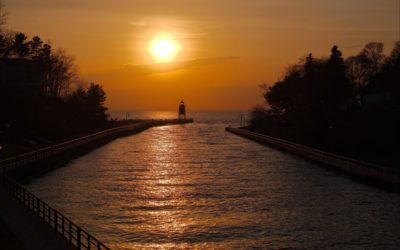 Sunset at the Charlevoix Lighthouse