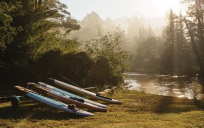 Paddleboard Camping on the Au Sable River in Northern Michigan