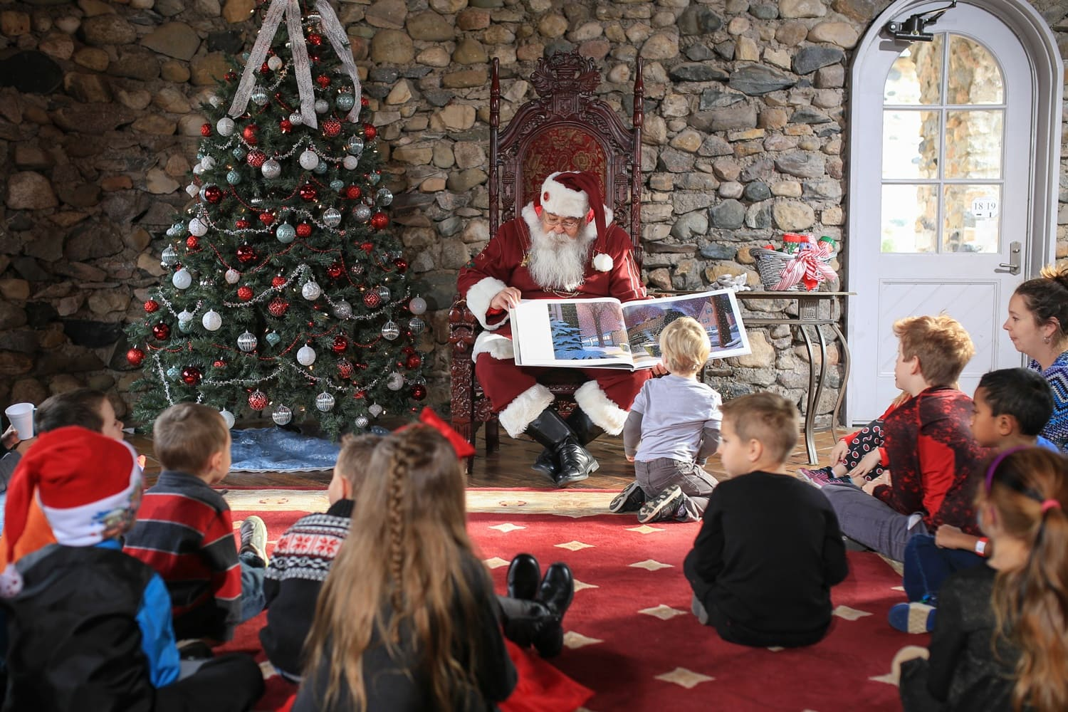 Castle Farms story time with Santa