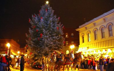 Try Roasted Chestnuts at the Manistee Sleighbell Parade and Old Christmas Weekend