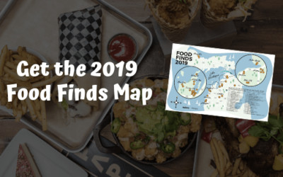 2019 Food Finds Map of Northern Michigan