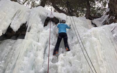 Would You Climb a Frozen Waterfall? Molly Korroch Attempts Ice Climbing in Munising, Michigan