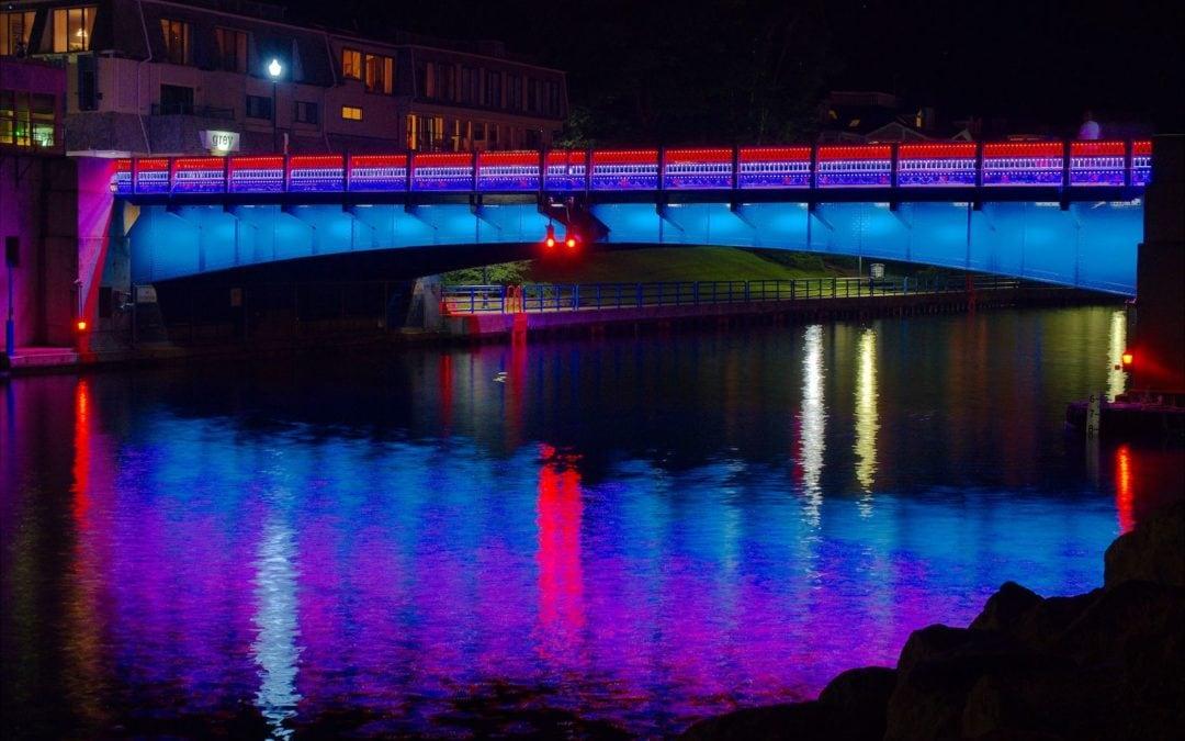 Charlevoix's New Bridge Lights