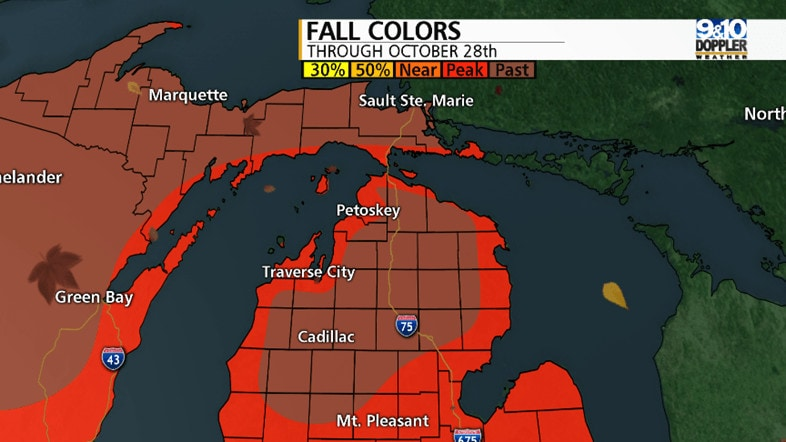 Michigan fall color map