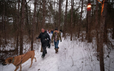 Let it Glow: Lantern-Lit Snowshoe Hikes at Hartwick Pines State Park