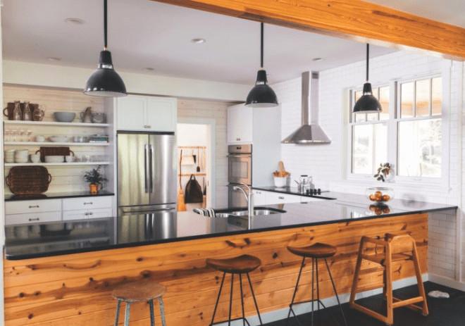 crystal lake home, kitchen, modern rustic kitchen
