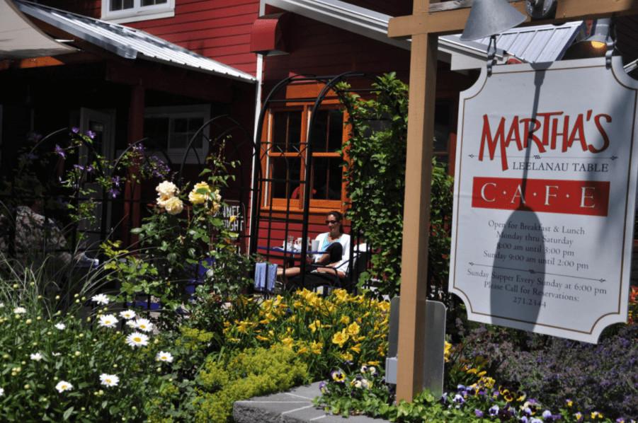Martha's Leelanau Table, Suttons Bay, restaurant, Leelanau, outdoor dining