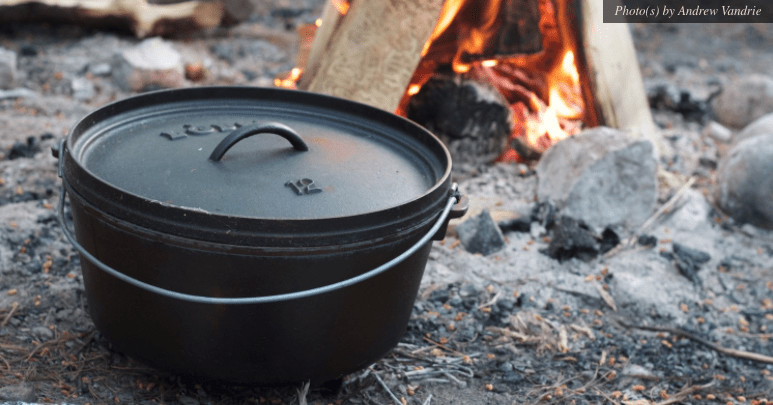 campfire cooking, camp, camping, cooking outside, dutch oven