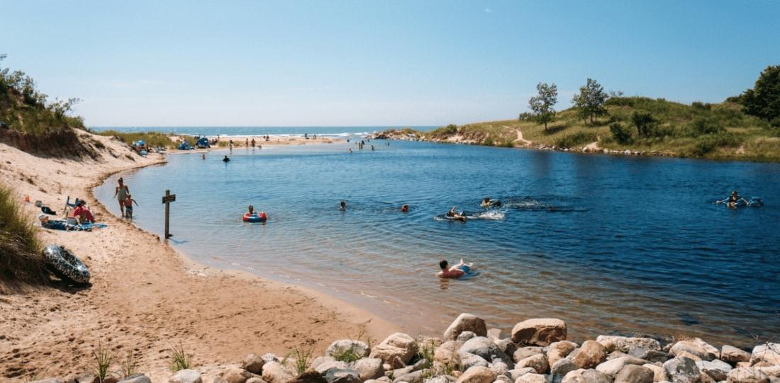 ludington state park, beach, beaches