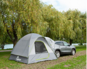 tent attached to truck, car tent