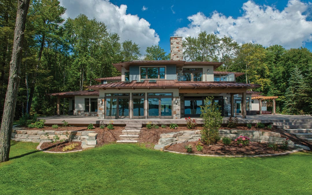 Prairie Style and Green: An Incredible Long Lake Home