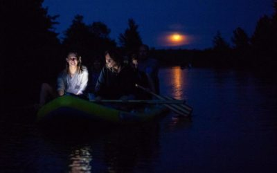 Paddle the Lower Platte River by Moonlight