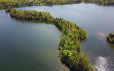 Unique Private Island with Cabin for Sale in Traverse City