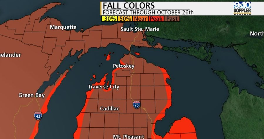3. Northern Michigan Fall Color Map