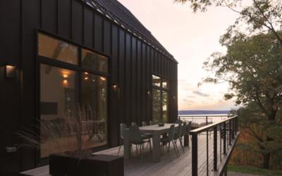 Modern-Rustic Northern Michigan Home Overlooks Glen Lake